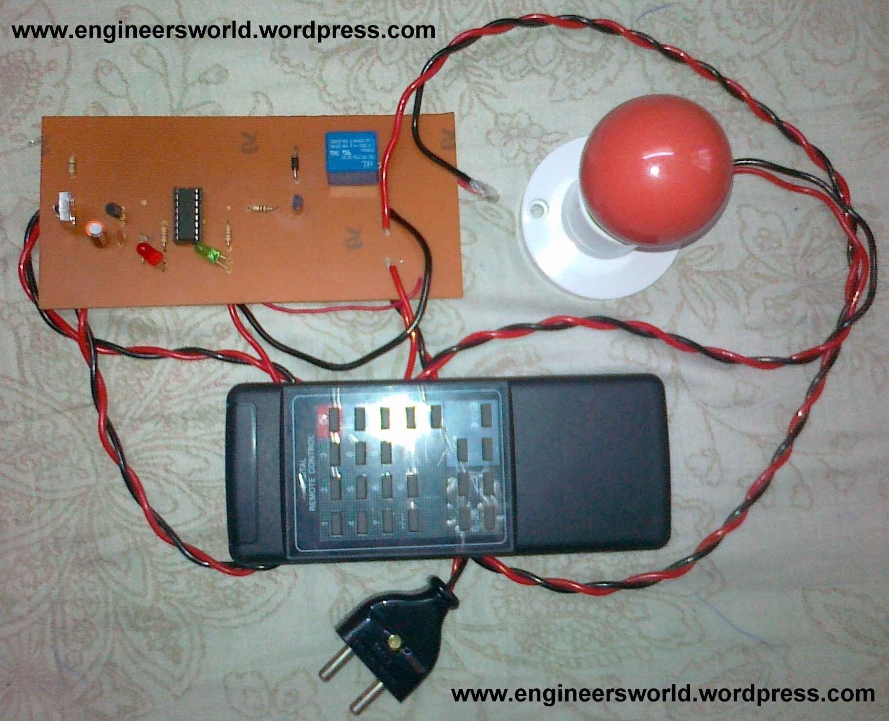 Engineers World Controlling Home Appliances Through Infrared Ir Receiver Circuit Diagram